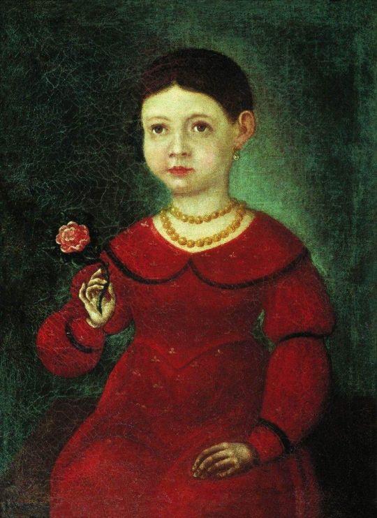 Портрет девочки Евдокии Кузнецовой