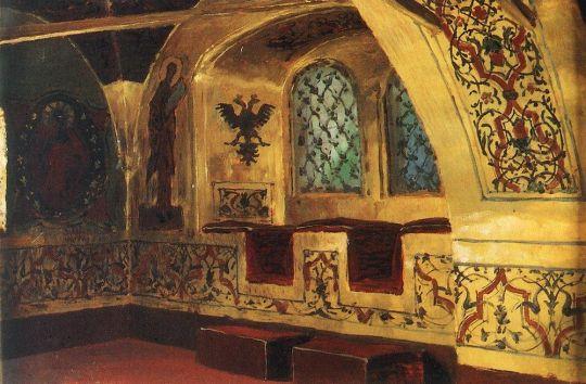 Золотая царицына палата. Окно