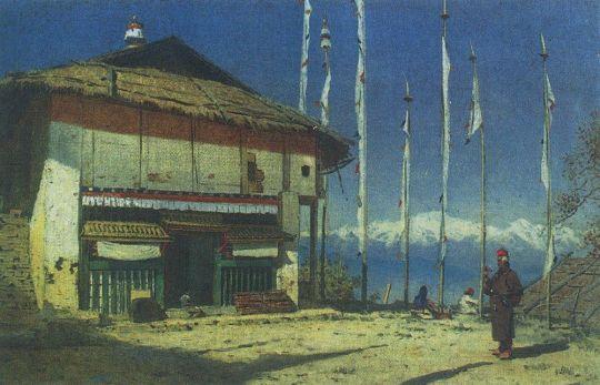 Буддийский храм а Дарджилинге. Сикким