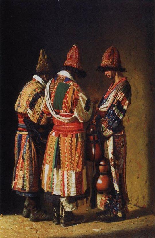 Дервиши в праздничных нарядах. Ташкент