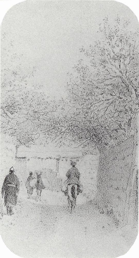 Улица в деревне Ходжагенте