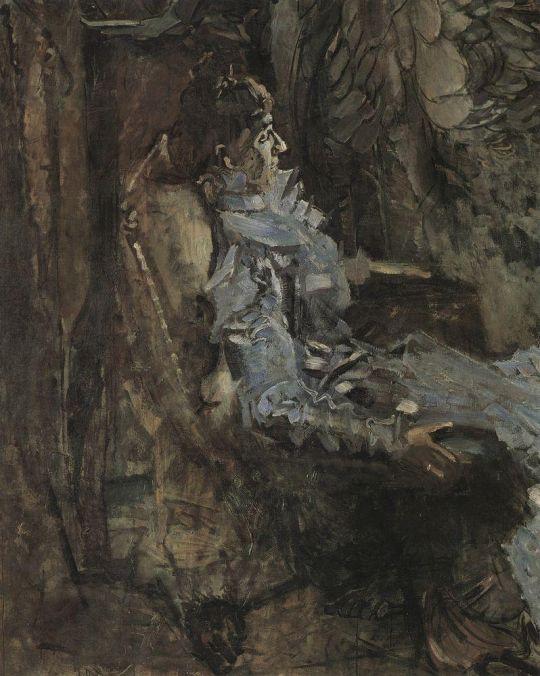 Дама в лиловом. Портрет артистки Н.И. Забелы-Врубель