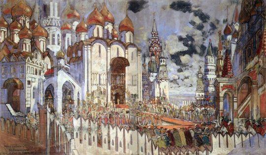 Борис Годунов. Коронование