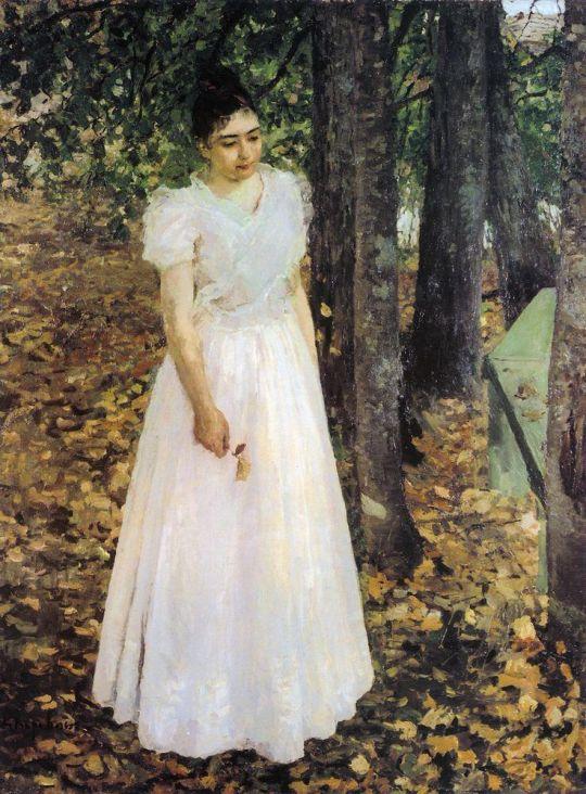 Осенью (Девушка в саду)