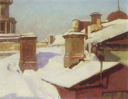 Зима. Крыши