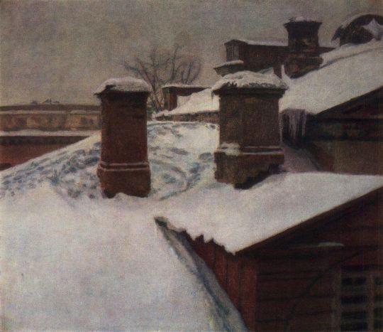 Крыши зимой
