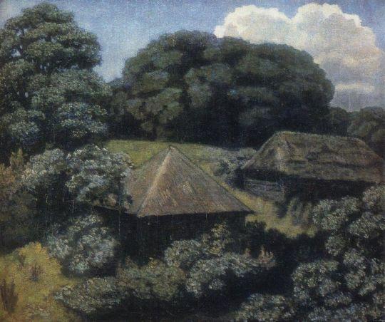 Летний пейзаж с избами