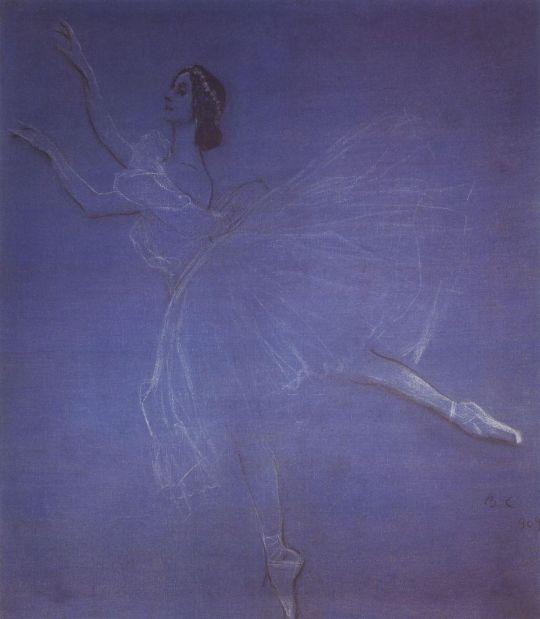 Анна Павлова в балете Сильфиды.