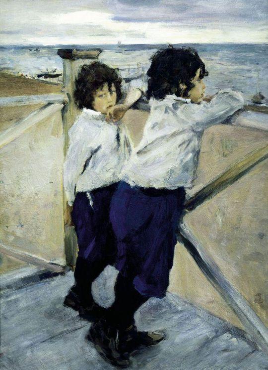 Дети (Саша и Юра Серовы).