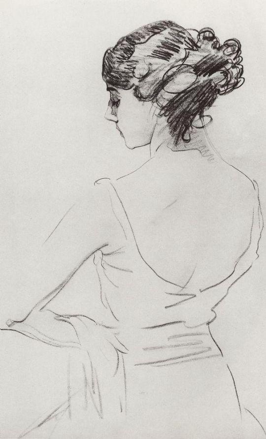 Портрет балерины Т.П.Карсавиной.
