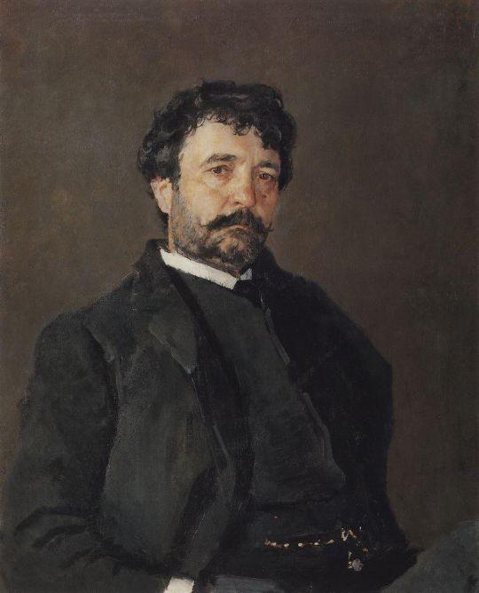 Портрет итальянского певца Анджело Мазини.