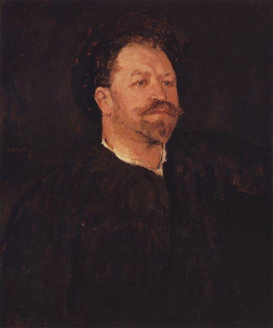 Портрет итальянского певца Франческо Таманьо.