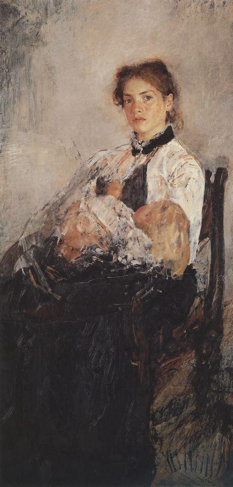 Портрет Н.Я.Дервиз с ребенком.