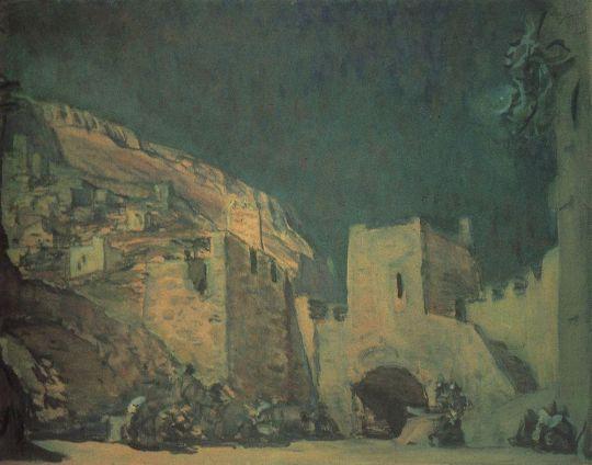 Эскиз декорации к опере А.Н.Серова Юдифь.