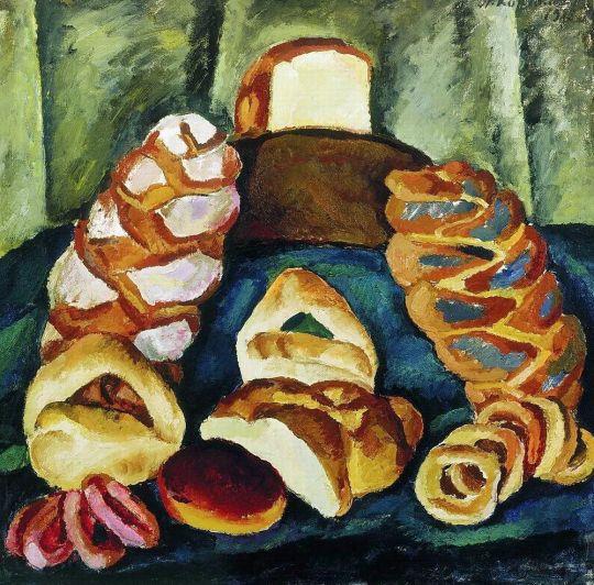 Хлебы на зеленом.