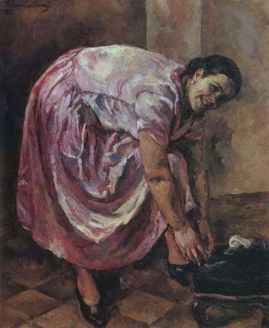 Портрет Натальи Петровны Кончаловской, дочери художника (в розовом платье).