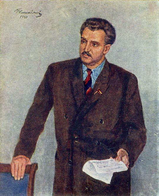 Портрет писателя Константина Михайловича Симонова.