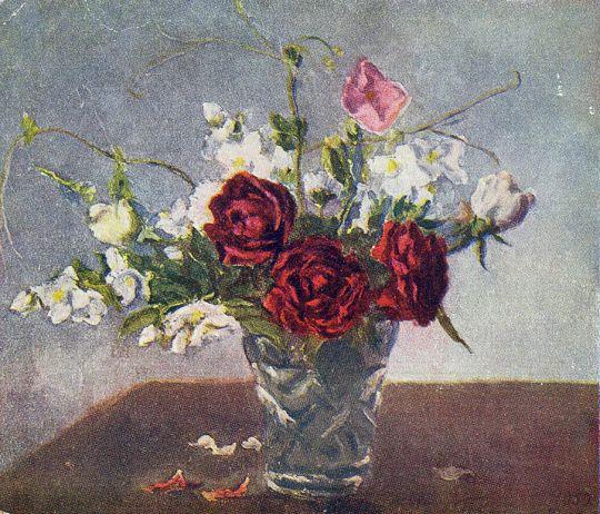 Натюрморт. Красные розы.