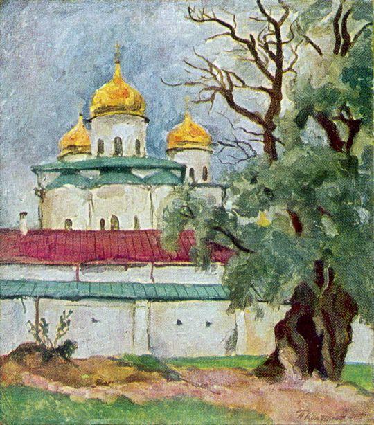 Георгиевский собор Юрьева монастыря в Новгороде.