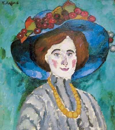 1909 Дама в шляпе. Холст, масло. Частное собрание.