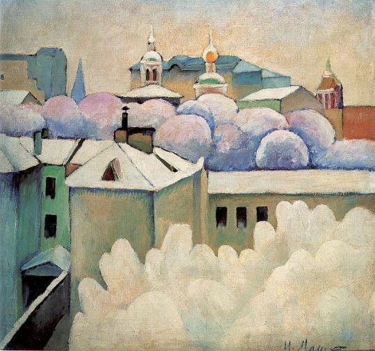 1914 Городской зимний пейзаж. Х., м. 89x86 ГРМ