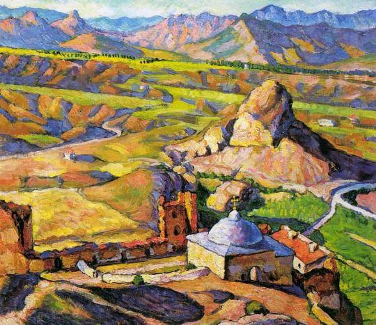 1917 Вид Генуэзской крепости в Судаке. Х., м. 82х90 Рязань