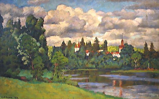 1923 Нева. Островки. Дом отдыха. Х., м. 55х86 Волгоград