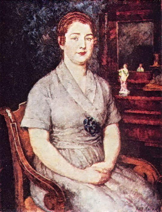 1923 Портрет жены художника Марии Ивановны Машковой. Х., м. 91х70 ЧС, М.