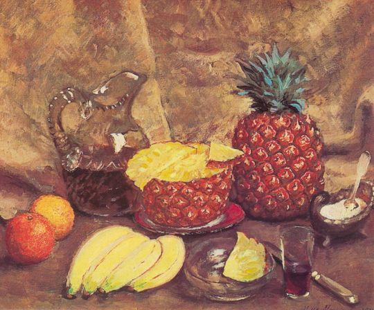 1938 Натюрморт. Ананасы и бананы. Х., м. 52х60 ГТГ