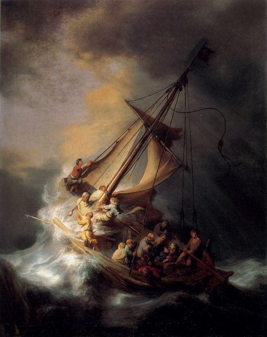 Христос во время шторма на море Галилейском