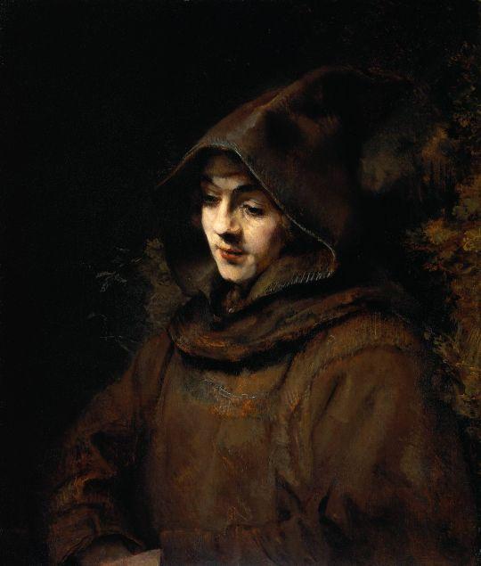 Портрет сына Рембрандта Титуса в костюме монаха