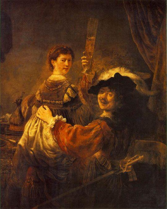 Автопортрет с Саскией на коленях ( Блудный сын в таверне )