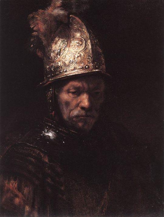 Человек в золотом шлеме