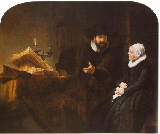 Меннонитский министр Корнелис Клаус Ансло разговаривает со своей женой Аалте