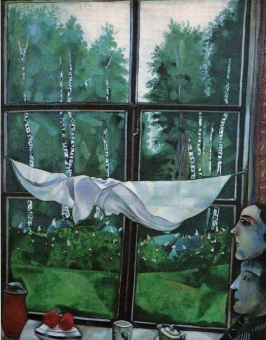 Окно в деревне