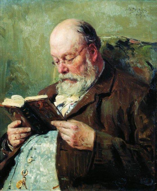Портрет академика Ивана Ивановича Янжула. 1907