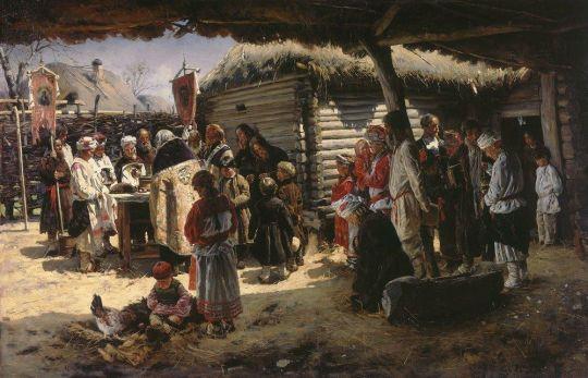 Молебен на Пасхе. 1887-1888