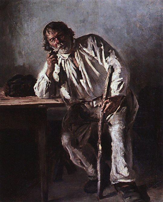 Старик с трубкой. 1881
