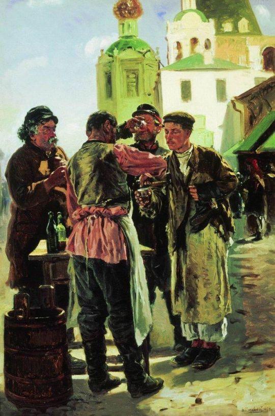 Продавец кваса. 1879