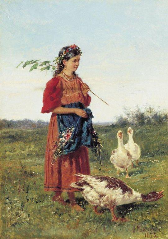 Девочка с гусями. 1875