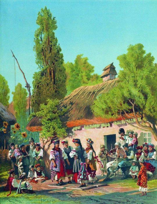Воскресный вечер в малороссийской деревне. 1879