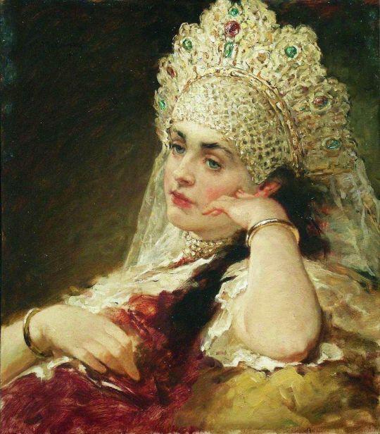 Девушка в жемчужном ожерелье. Конец 1880-х – 1890-е