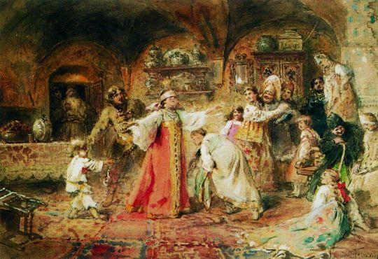 Игра в жмурки. 1890-е