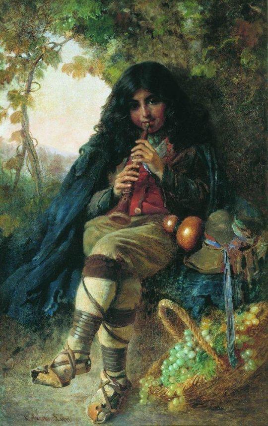 Итальянский мальчик. 1877