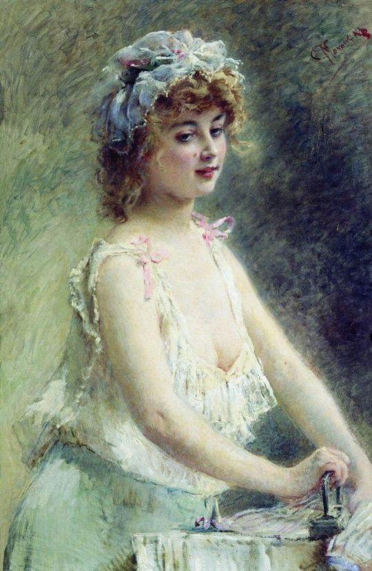 Гладильщица. 1880-е