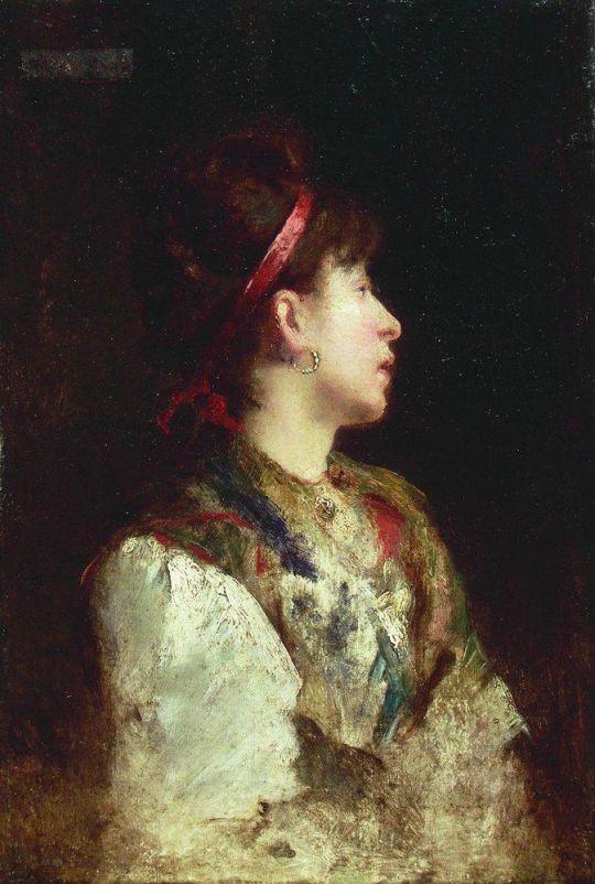 Девушка с красной лентой. 1900-е