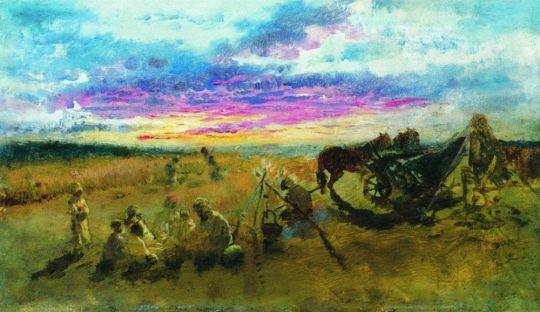 У костра. Качановка. 1888
