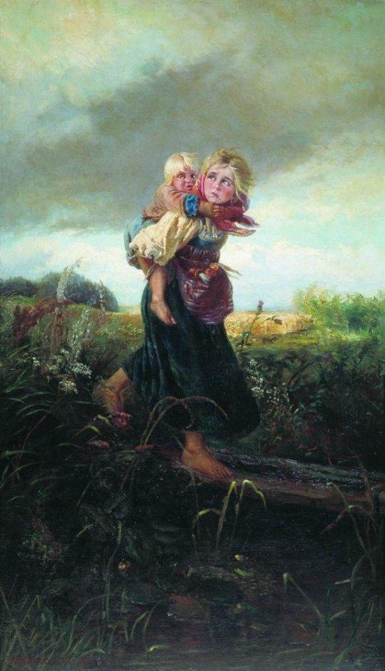 Дети, бегущие от грозы. 1878
