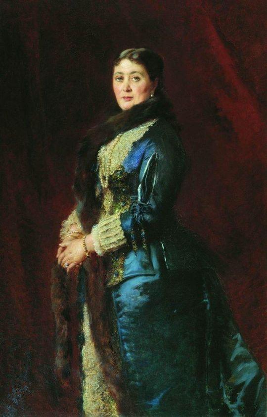 Портрет графини М.Е.Орловой-Давыдовой. 1880-е