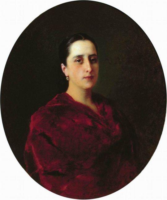 Портрет неизвестной в красном платье